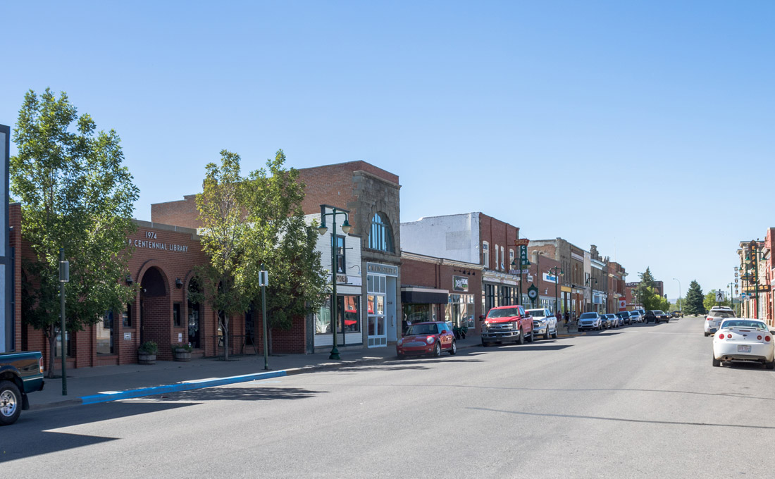 A View West Down Main Street