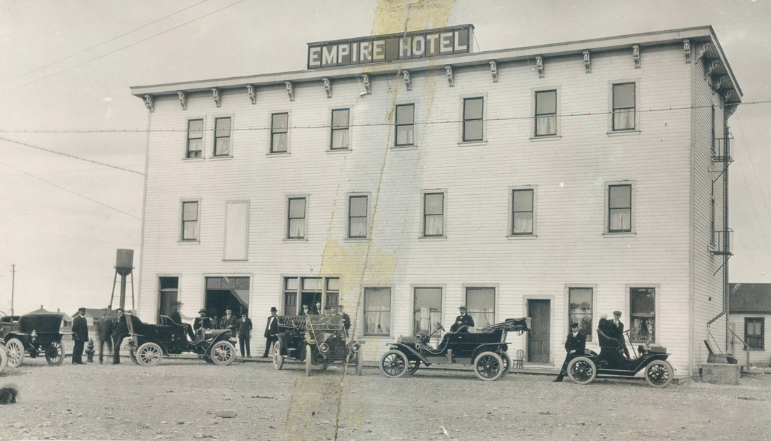Cars Outside the Empire Hotel